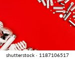 many old used metal lithium... | Shutterstock . vector #1187106517