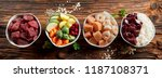 panorama banner with healthy... | Shutterstock . vector #1187108371