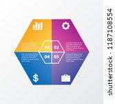 business data visualization.... | Shutterstock .eps vector #1187108554