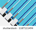 swimming minimal illustration | Shutterstock .eps vector #1187111494