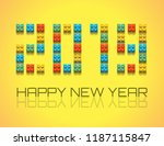 2019 happy new year background... | Shutterstock .eps vector #1187115847