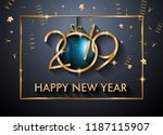 2019 happy new year background... | Shutterstock .eps vector #1187115907