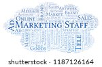 word cloud with text marketing... | Shutterstock . vector #1187126164