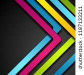 colorful abstract stripes... | Shutterstock .eps vector #1187133211