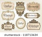 vintage labels | Shutterstock .eps vector #118713634