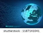 abstract technology background... | Shutterstock .eps vector #1187141041