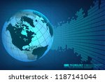 abstract technology background...   Shutterstock .eps vector #1187141044
