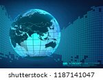 abstract technology background... | Shutterstock .eps vector #1187141047