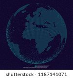 3d dotted globe abstract... | Shutterstock .eps vector #1187141071