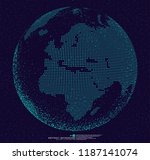 3d dotted globe abstract...   Shutterstock .eps vector #1187141074