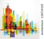 modern cityscape concept