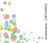 social media marketing ... | Shutterstock .eps vector #1187149051