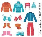 winter clothes vector... | Shutterstock .eps vector #1187155777
