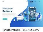 modern flat design concept of... | Shutterstock .eps vector #1187157397