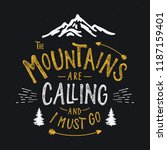 mountains typography. textured... | Shutterstock .eps vector #1187159401
