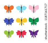 colorful butterfly. abstract... | Shutterstock .eps vector #1187161717