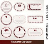 vector set card of valentine's... | Shutterstock .eps vector #118716331