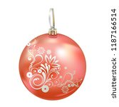 beautiful realistic new year 3d ... | Shutterstock .eps vector #1187166514
