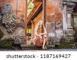 young woman traveler in ubud... | Shutterstock . vector #1187169427