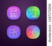 business management app icons...