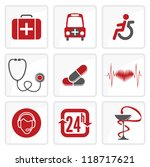 medicine and  heath care icons | Shutterstock .eps vector #118717621