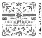 line style design element set ... | Shutterstock .eps vector #1187197414