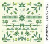 line style design element set ... | Shutterstock .eps vector #1187197417