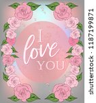 vintage greeting card with... | Shutterstock .eps vector #1187199871