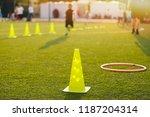 football soccer training... | Shutterstock . vector #1187204314
