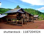 traditional hut in khmu village ... | Shutterstock . vector #1187204524