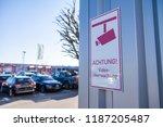 german camera sign near a... | Shutterstock . vector #1187205487