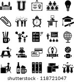 college icons | Shutterstock .eps vector #118721047