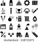 fire icons | Shutterstock .eps vector #118721071