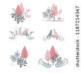 autumn bouquet vector. doodle...   Shutterstock .eps vector #1187214367