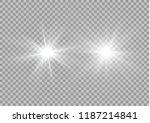 white glowing light explodes on ... | Shutterstock .eps vector #1187214841