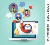 customer retention flat... | Shutterstock .eps vector #1187215321