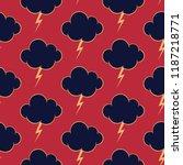 vector stormy sky background ...   Shutterstock .eps vector #1187218771