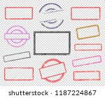 set of rubber stamps  | Shutterstock .eps vector #1187224867