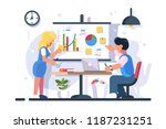 couple discussing financial... | Shutterstock .eps vector #1187231251