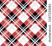 menzies tartan black red kilt... | Shutterstock .eps vector #1187233081