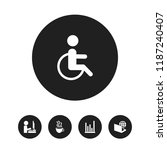 set of 5 editable office icons. ...