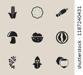 set of 9 editable kitchenware... | Shutterstock . vector #1187240431