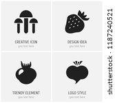 set of 4 editable dessert icons....