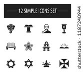set of 12 editable dyne icons....