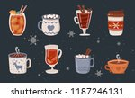 vector collection of hot drinks.... | Shutterstock .eps vector #1187246131