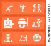 set of 9 people filled icons... | Shutterstock .eps vector #1187248564