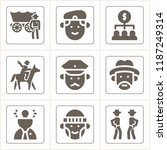 set of 9 people filled icons... | Shutterstock .eps vector #1187249314