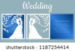 vector illustration postcard.... | Shutterstock .eps vector #1187254414