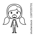 cartoon woman furious kawaii... | Shutterstock .eps vector #1187255731