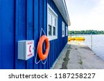 blue dockyard   aug 4  2018 | Shutterstock . vector #1187258227